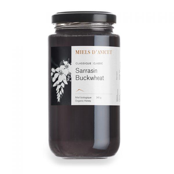 Pot de miel biologique de sarrasin de Miels d'Anicet