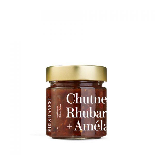 chutney au Miels d'Anicet, rhubarbe et amélanciers