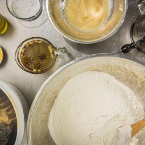 préparation des ingrédients recette pain épices au miel de sarrasin