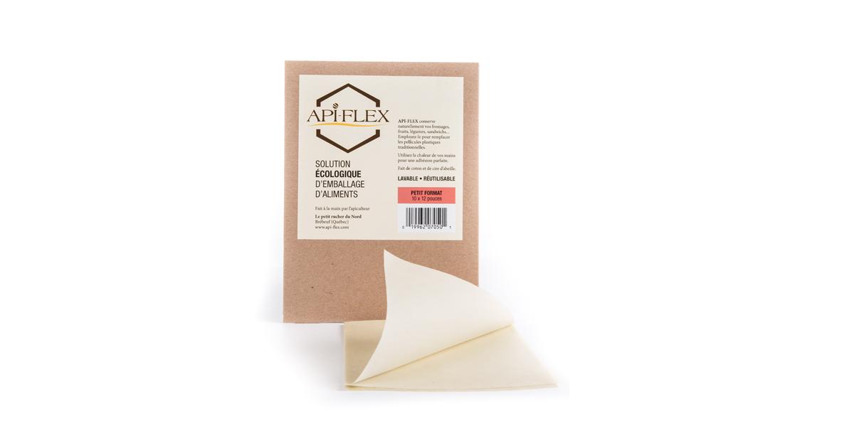 emballage pour aliments base de cire d 39 abeille petit format api flex. Black Bedroom Furniture Sets. Home Design Ideas
