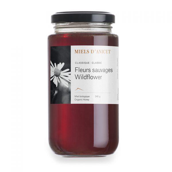 Pot de miel classique fleurs sauvages de Miels d'Anicet
