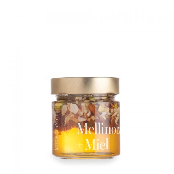 mélange de miel, de noix et de fruits séchés