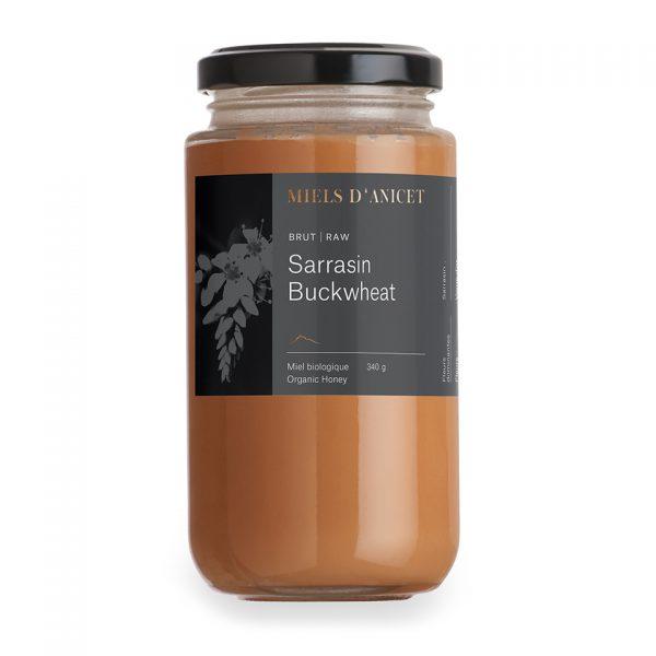Pot de miel brut biologique de sarrasin de Miels d'Anicet