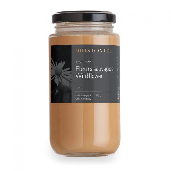 Pot de miel crémeux brut fleurs sauvages de Miels d'Anicet