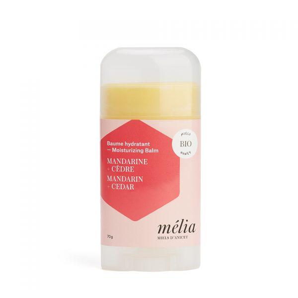 baume hydratant naturel biologique pour le corps Mélia mandarine et cèdre