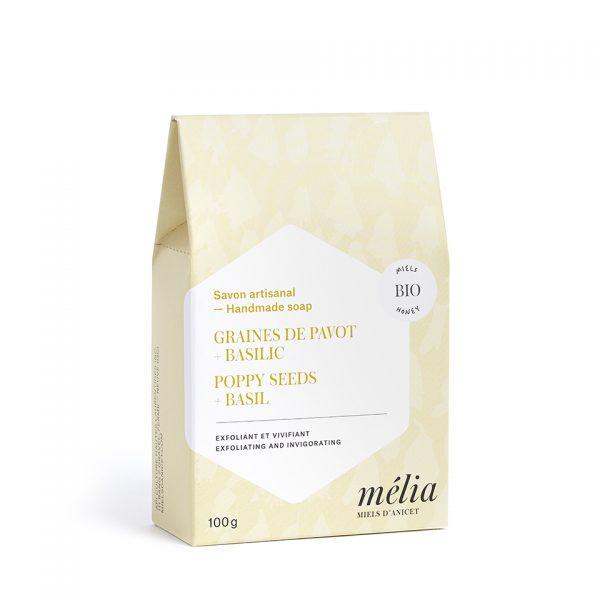 Savon artisanal biologique au miel de la gamme Mélia
