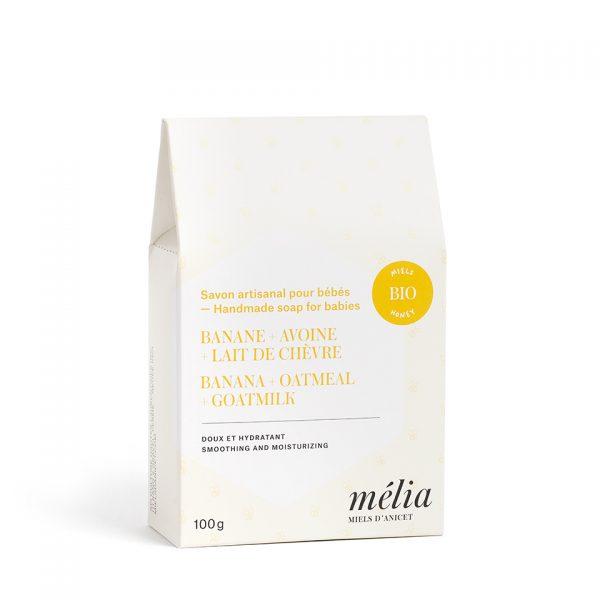 Savon pour bébés artisanal biologique au miel de la gamme Mélia