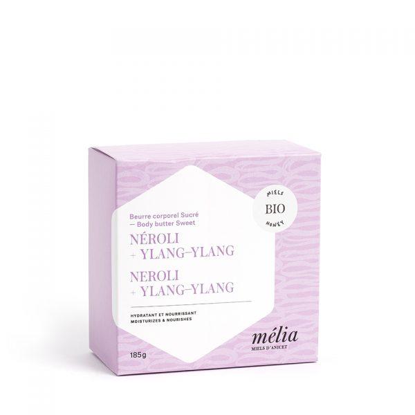 Beurre corporel biologique au miel, Neroli et Ylang-Ylang