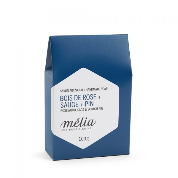 Savon pour pour homme artisanal biologique au miel de la gamme Mélia